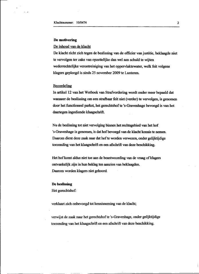 Gerechtshof doorverwijzing beklag Mobagat 002
