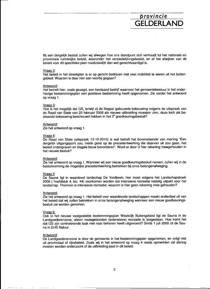 Sauna Drome Putten antwoorden statenvragen 001
