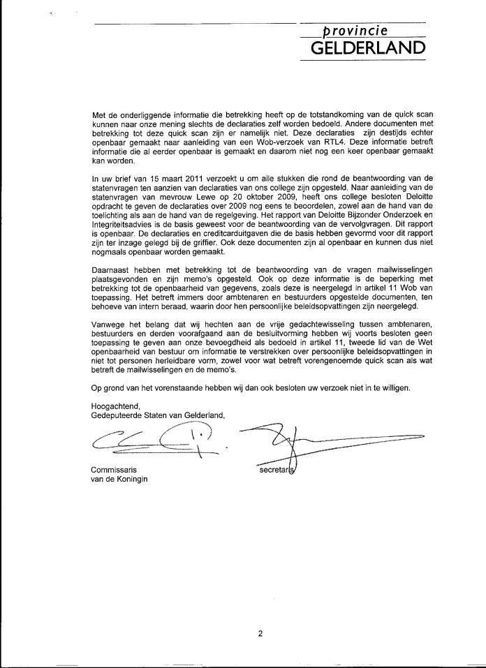 Declaraties GS 2008 009